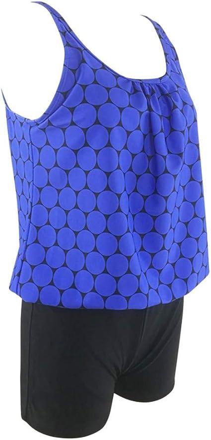 XGao Women Tankini Plus Size Bikini Two Piece Orthodox Swimsuit Padded Top Shorts Bottom Bathing Suit Swimwear Beachwear Swimsuits for Female Girls Swimming Beach Summer
