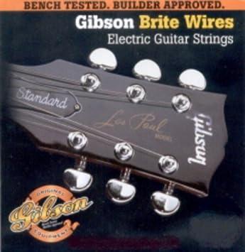CUERDAS GUITARRA ELECTRICA - Gibson (700/ML) Medium Lite/Rock (Juego Completo 011/050E): Amazon.es: Instrumentos musicales