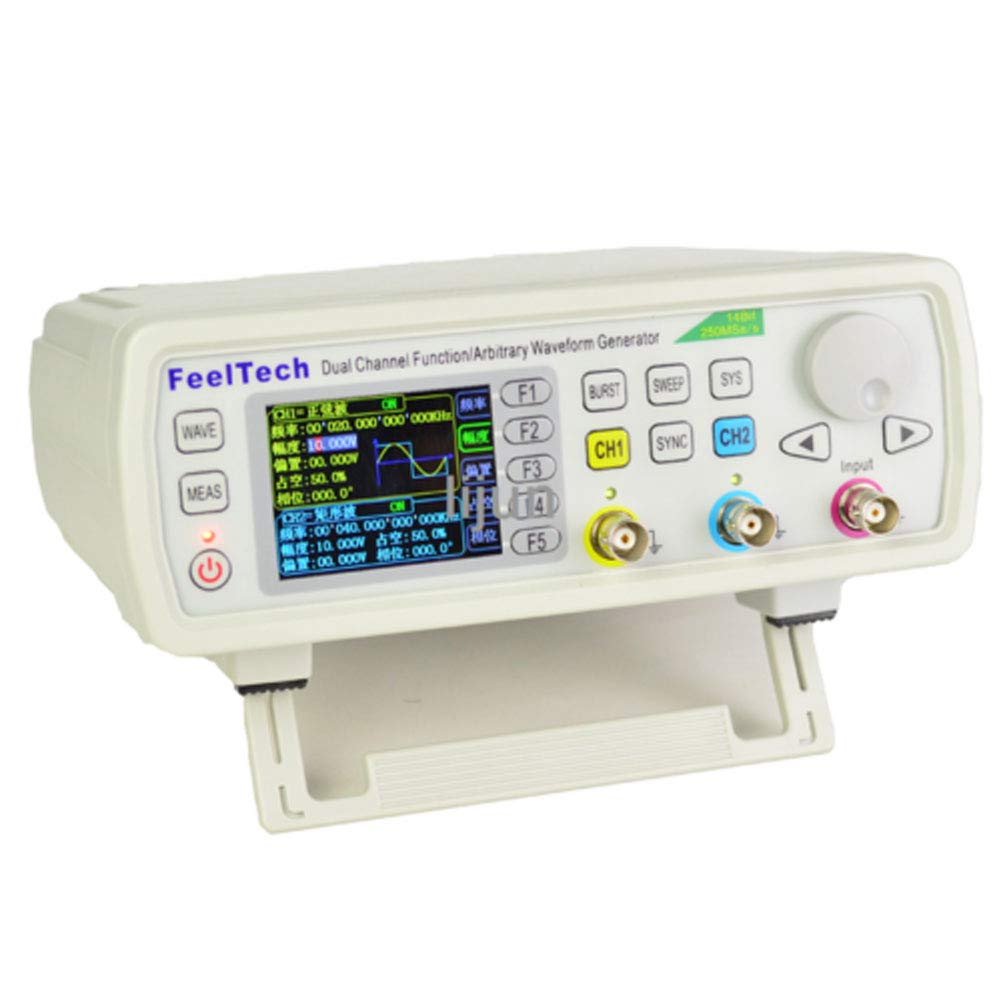 TABODD FY6600S 60MHz Digital Dual Kanal DDS Funktion Signal Generator Frequenzmesser Funktionsgeber Funktionsgenerator von Sinus//Dreieck//Quadrat//S/ägezahn//Pulswelle
