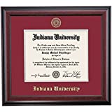 Indiana Hoosiers Diploma Frame Crimson Gray Matting Embossed Seal