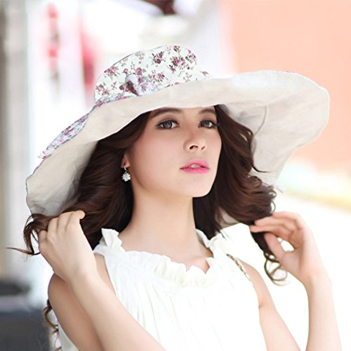 35a34f17aa6eb CACUSS Women s UPF 50+ Foldable Floppy Reversible Wide Brim - Import It All