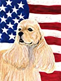 Caroline's Treasures SS4006GF USA American Flag with Cocker Spaniel Flag, Small, Multicolor Review