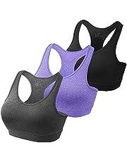 HBselect 3 szt. sportowy biustonosz biustonosz bez fiszbin oddychający joga jumping fitness