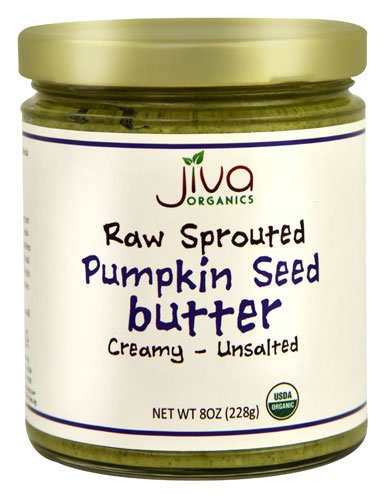 Jiva Organics RAW SPROUTED Organic Pumpkin Seed Butter 8-Ounce Jar ()