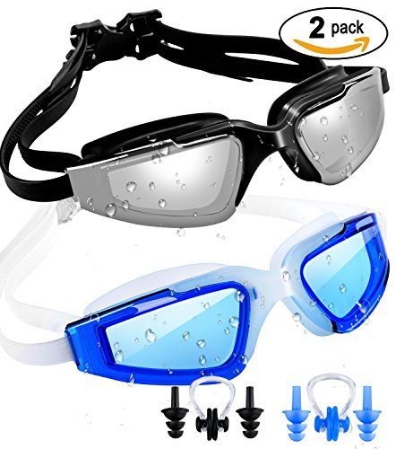 c34af992246 SBORTI 2 Pack Swimming Goggles Adult Women Men Youth