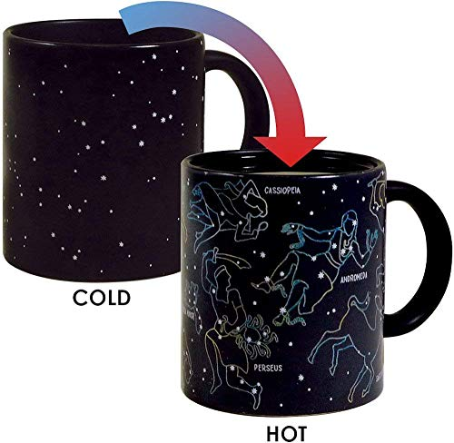 The Unemployed Philosophers Guild Heat Changing Constellation Mug - Add Coffee or Tea and 11 Constellations Appear - Comes in a Fun Gift -