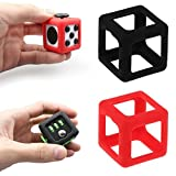 Mandy Fidget Cube Stress Relief Focus Toy Protective Cover Case Red