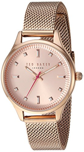 Ted Baker Women's 'ZOE' Quartz Stainless Steel Casual Watch, Color:Rose Gold-Toned (Model: TE50273004)