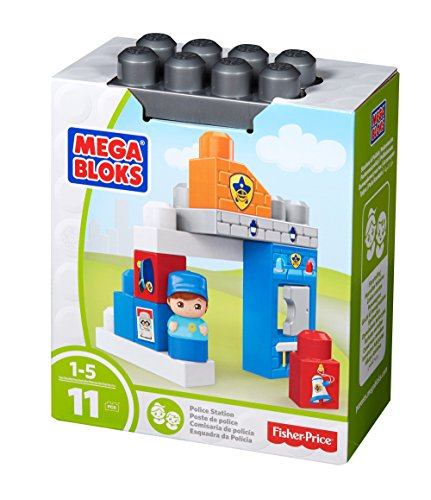 (Mega Bloks Police Officer Block Buddy Building Kit)