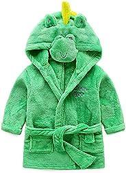 God Sweet Baby Boys Girls Toddle Winter Flannel Animal Bathrobe Hooded