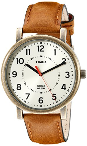 Timex Unisex T2P220AB Originals Gold-Tone Watch with Brown L...