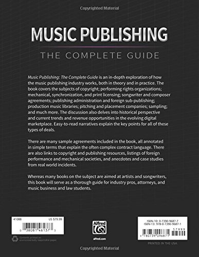 Music Publishing -- The Complete Guide by Alfred