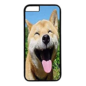 Custom Case Cover For iPhone 6 Plus Black PC Back Phone Case Hard Single Shell Skin For iPhone 6 Plus With Lovely Dog