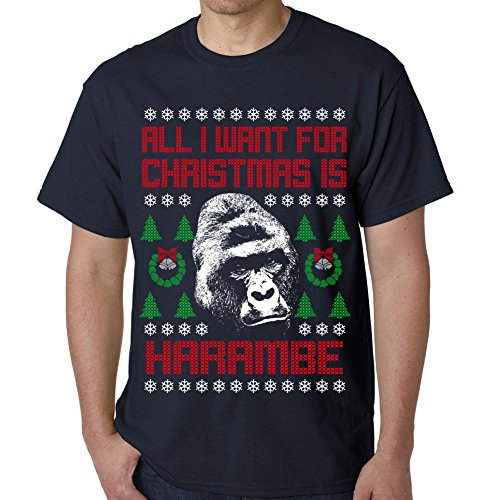 All I Want For Christmas Is Harambe Ugly Christmas Sweater T-shirt