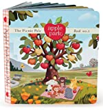 Apple Park Blankie Book and Rattle Gift Crate, Cubby