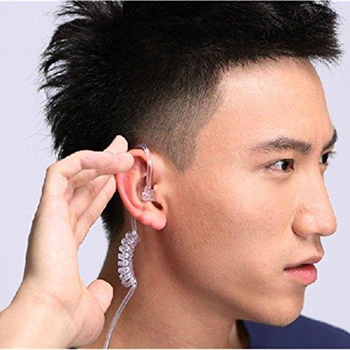 Agent Stereo Headphones (3.5mm Air Tube Stereo Headset ,White&Black Color Monaural Headphone ,Anti-radiation Earphone)