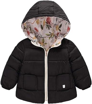 Franterd Baby Boys Girls Winter Butterfly Lightweight Warm Jacket Windproof Zipper Cotton Hooded Coat