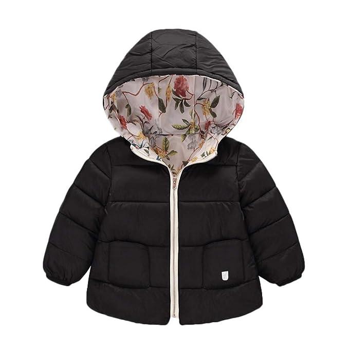 Kids Baby Girl Boy Winter Warm Hooded Long Coat with Zipper Windproof Outerwear