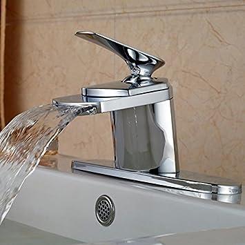 Votamuta Chrome Waterfall Bathroom Basin Sink Vanity Faucet Deck ...