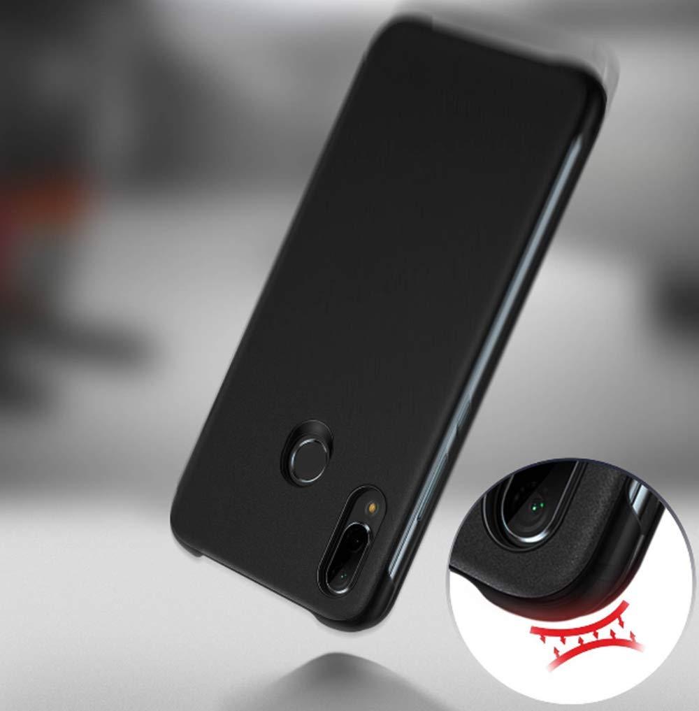 AURSTORE Smart Cover Housse Etui P30 Folio Cover ECO-Cuir Coque Pochette Etui pour Huawei P30 Couleur Noir Compatible pour Huawei P30, Noir