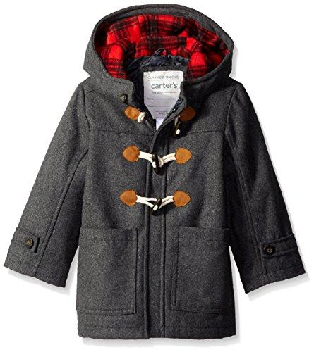 Plaid Toggle Coat Jacket - 3