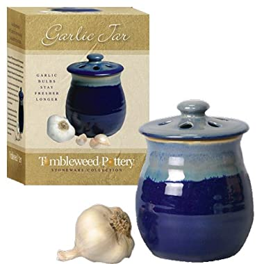 Tumbleweed Garlic Clove Canister Keeper with Vented Lid