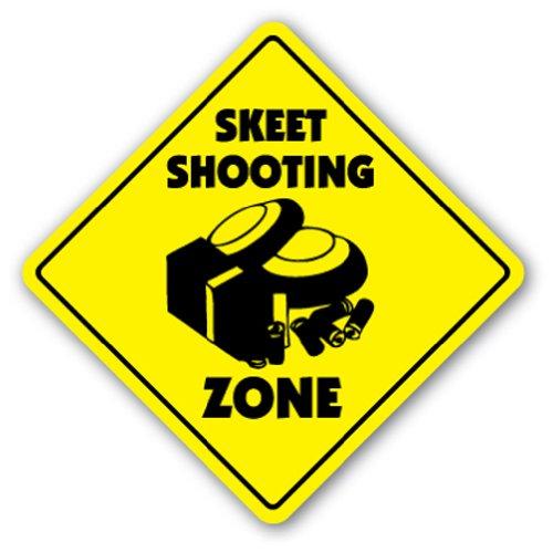 SKEET SHOOTING ZONE Sign shooter clays shotgun guns