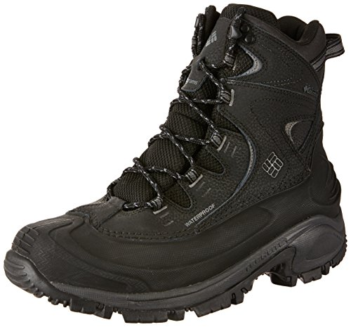 Columbia Men's Bugaboot II Snow Boot, Black, Charcoal, 10 D (Columbia Leather Snow Boots)