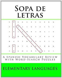Sopa de letras: A Spanish Vocabulary Review with Word-Search Puzzles