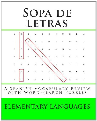 Sopa de letras: A Spanish Vocabulary Review with Word-Search ...