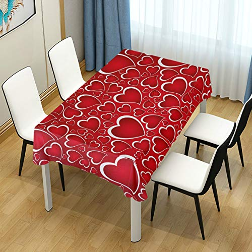"Naanle Valentine's Day Rectangle Tablecloth 60""(W) for sale  Delivered anywhere in USA"