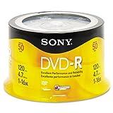 Sony® DVD-R Discs, 4.7GB, 16x, 50/pk