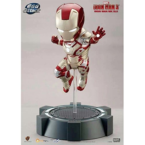 Kids Logic Beast Kingdom Egg Attack Iron Man Mark XLII Mark 42 Iron Baby Lights up Statue MISB (Iron Iii Mark)
