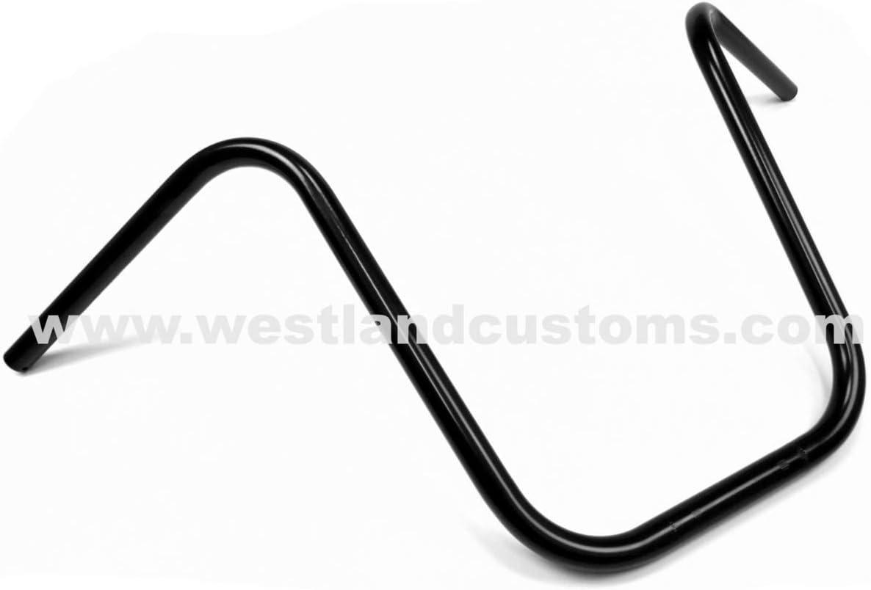 7//8 Inch Lenker Universell Ape Hanger 38cm Schwarz 22mm