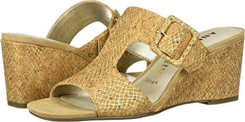 - Anne Klein Women's NILLI Dress Sandal Wedge, Light Gold Cork, 8.5 M US