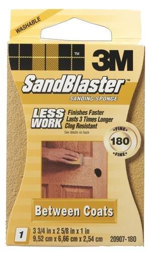 "12 Pk 3M 2 5//8/"" X 3 3//4/"" X 1/"" Fine Sanding Sponge 180 Grit 20907-180"