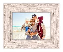 Kiera Grace Maya Picture Frame, 5  by  7 Inch , Weathered White Beachwood
