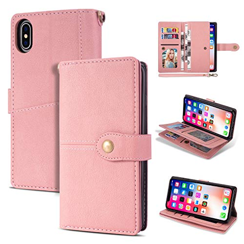 Black Friday Deals Cyber Monday Deals-iPhone Xs Max Case iPhone Xs Max Wallet Case,Flip Leather Credit Card Holder Cash Pockets Wristlet Protective Case for iPhone Xs Max (Pink, iPhone Xs Max)]()