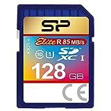 Silicon Power 128GB SDXC R85MB/s C10 UHS-1 Elite Memory Card (SP128GBSDXAU1V10EJ)