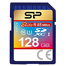 Silicon Power 128GB SDXC R85MB/s C10 UHS-1 Elite Memory Card (SP128GBSDXAU1V10EJ)