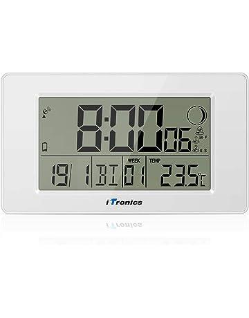 2262a961d0f6 iTronics Reloj de Radio Digital de Pared con Indicador de Temperatura Reloj  Despertador Temporizador de Cuenta