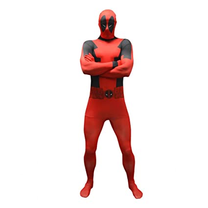 Morphsuits Disfraz de Disfraz básico de Deadpool Oficial tamaño Xlarge - 510-61 (176cm-185cm)