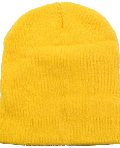 Simplicity Men/Women's Winter Acrylic Knitted Beanie, 1036_Yellow ()