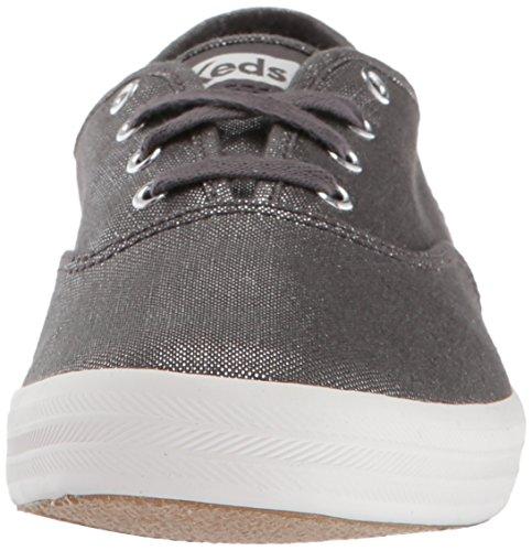 Rose Sneaker Keds Metallic Grey Ch Damen Gold Linen wpRgB8