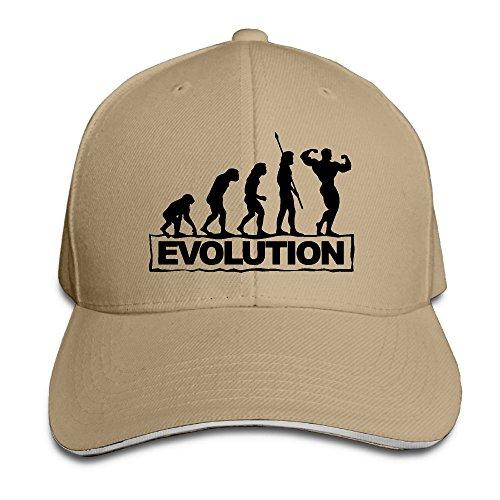 Evolution Body - Unisex Evolution Bodybuilder Snapback Hat Adjustable Peaked Sandwich Cap