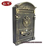 Italy Style Aristocratic Mailboxes Cast Aluminum Mail Boxes (01 Antique Bronze)