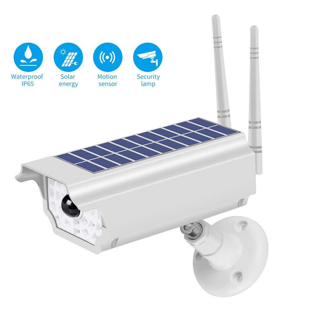 TNJIYI Wireless Camera, Solar LED Light Dummy Security Camera IP65 Waterproof PIR Motion Sensor Outdoor CCTV Fake Surveillance Simulation Camera by TNJIYI
