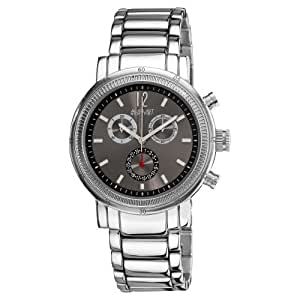 August Steiner Men's ASA809BK Swiss Quartz Chronograph Date Watch