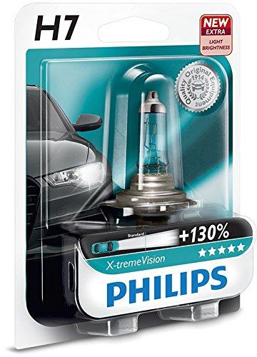 37 opinioni per Philips 12972XV+B1 X-treme Vision +130 Lampada Alogena H7, 12V 55W, 130% di Luce
