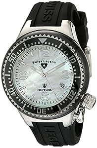 Swiss Legend Women's 11844-BKWSA Neptune White Mother-Of-Pearl Dial Watch